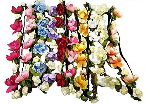 trenzas con flores para niñas
