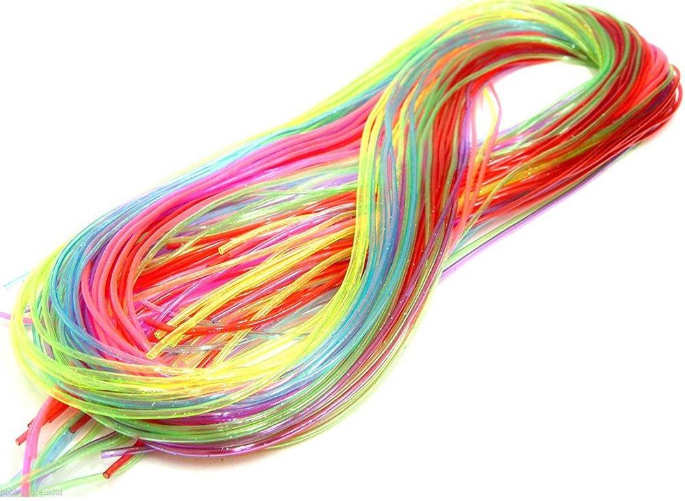 trenzas con hilos de colores