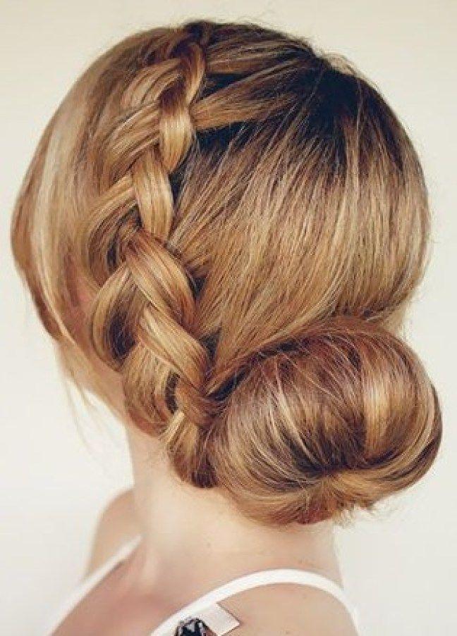 trenzas para novias cabello largo