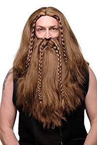 trenzas vikingas hombre barba
