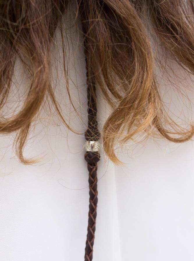 trenzas de cuero para el pelo