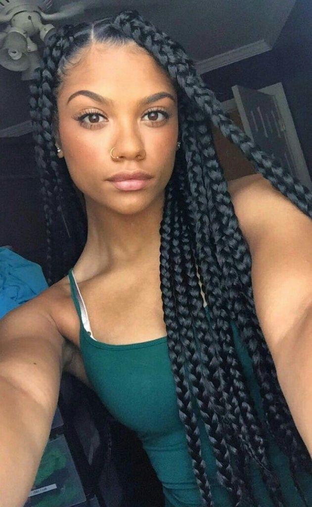 trenzas caribeñas pelo largo