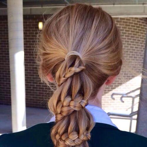 trenzas por todo el pelo con extensiones