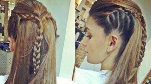 trenzas a cabello largo