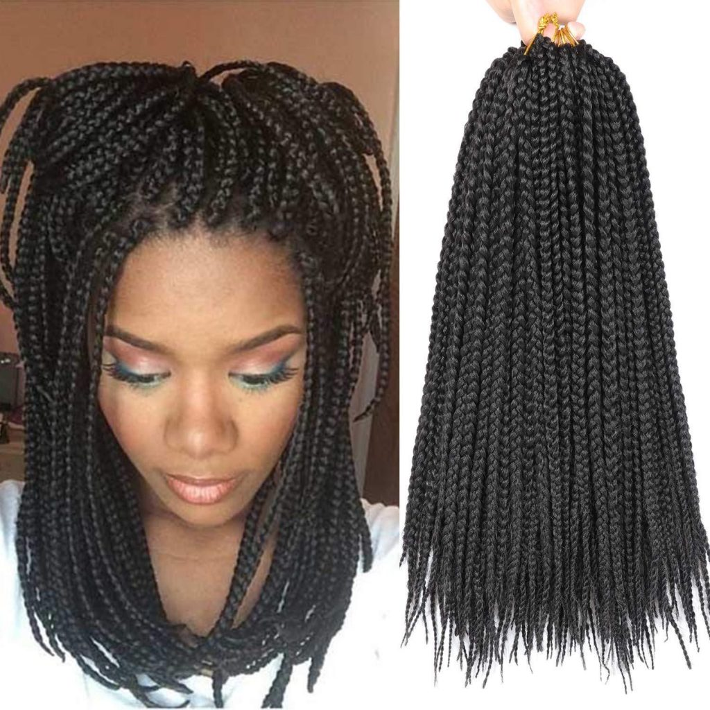 trenzas con extensiones de cabello