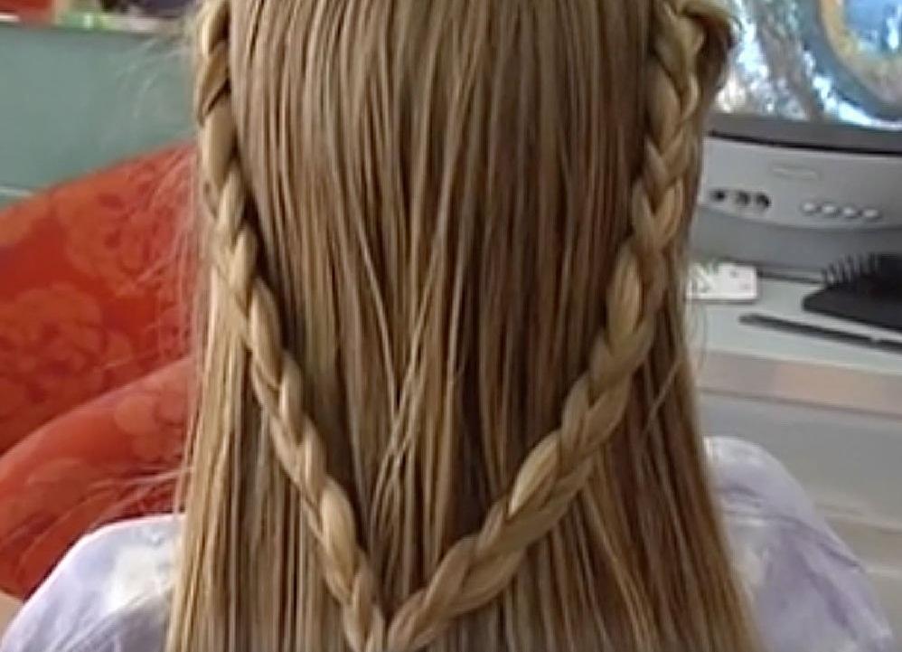 dos trenzas a los lados cabello suelto