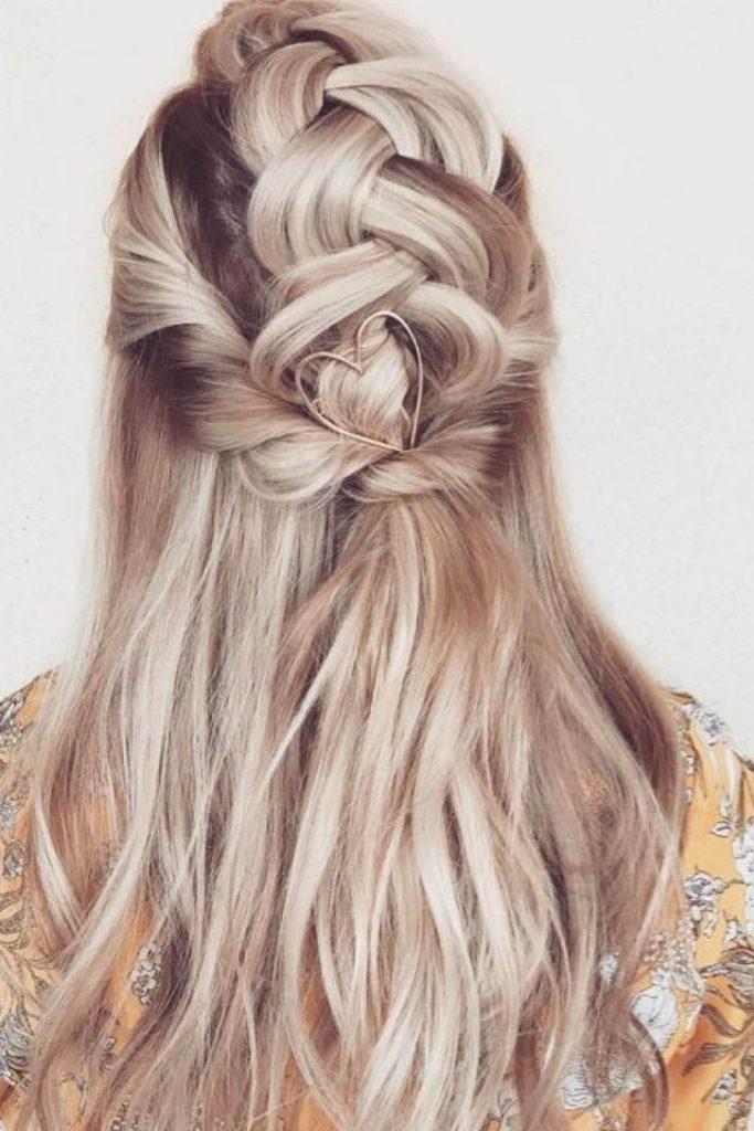 trenzas con pelo largo