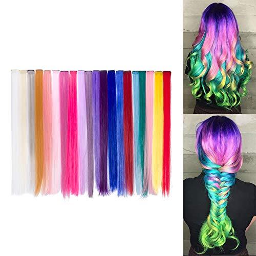 trenzas de colores con lana